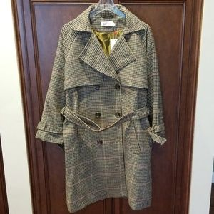 Elegance Afoot Trench Coat Louche Plaid Brown 10